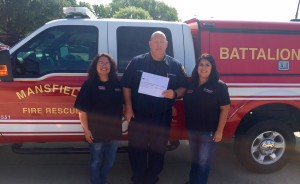 donation to mansfield fire dept